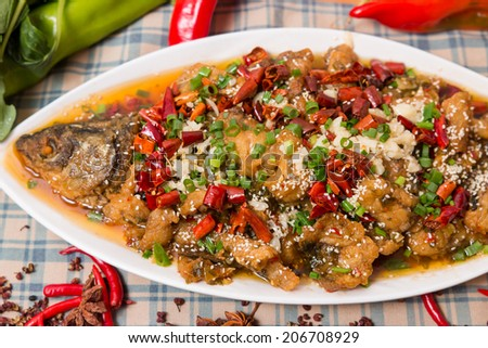 braised carp with soy sauce stewed carp with brown sauce