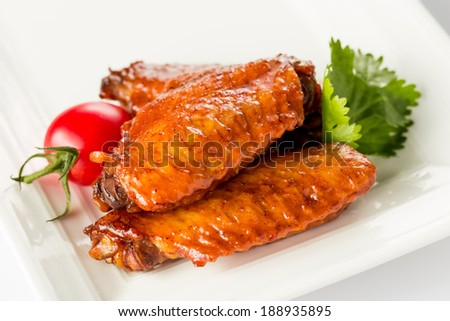 Braised duck gizzard, Chinese cuisine. - stock photo