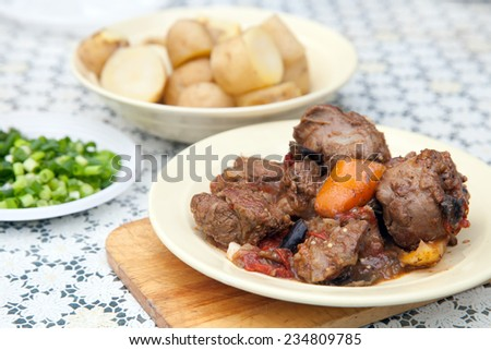 braised lamb with vegetables