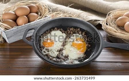 Braised Meat with Egg - stock photo