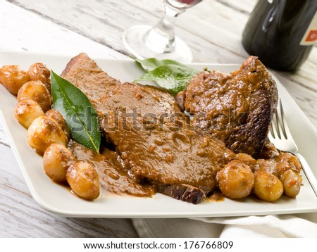 braised meat with  onions
