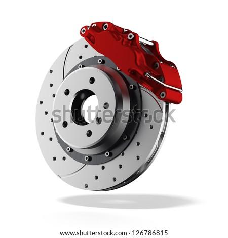 Brake disc - stock photo