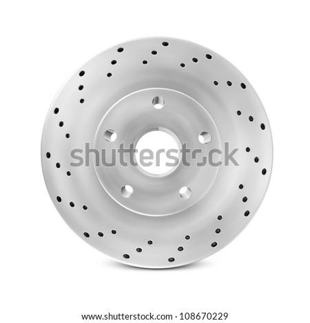 Brake Disc isolated on white background - stock photo