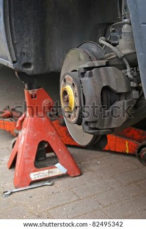 brake disc on van - stock photo