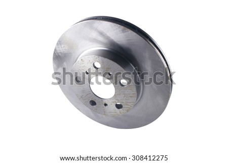 Brake disk for car on a white background