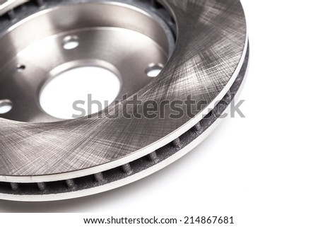 brake disk for the car  - stock photo