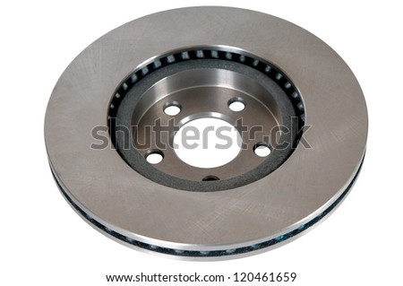 brake disk of the car on a white background.