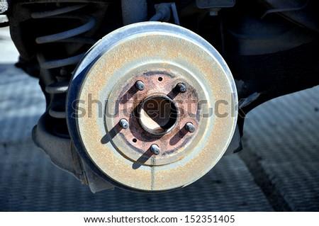 Brake drum of the car  - stock photo
