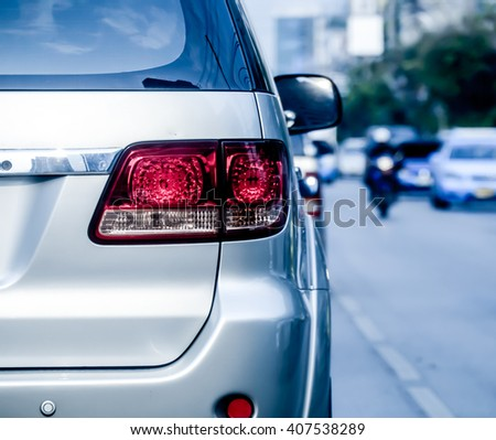 brake lights - stock photo