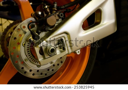 brake of a motorcycle - stock photo