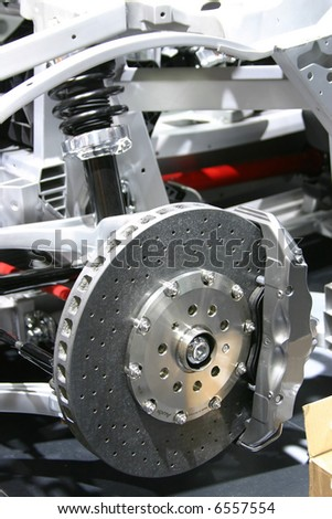 Brakes and suspension - stock photo
