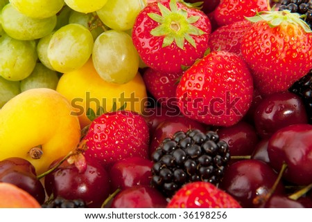 brambles, strawberries, grapes and plums