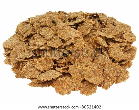 Bran Flakes - stock photo