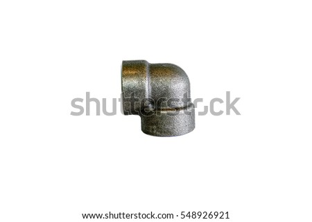 branch outlet fittings pipe, weldolet pipe, sockolet pipe weld,  isolated on white background