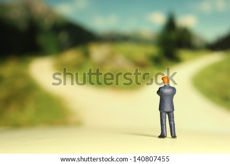 Branch road - stock photo