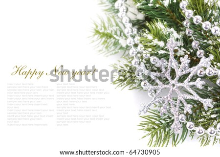 branches of a Christmas tree - stock photo