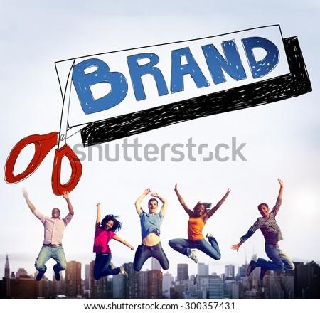 Brand Advertising Commerce Copyright Marketing Concept - stock photo