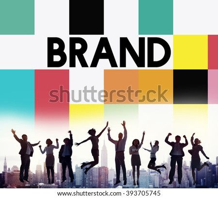 Brand Branding Marketing Advertising Trademark Concept - stock photo