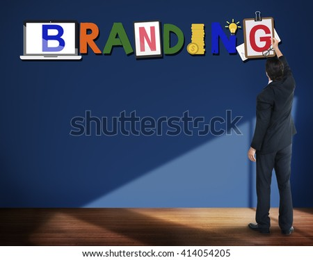 Brand Branding Project Goals Word Concept - stock photo