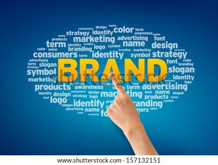 Brand - Hand - stock photo