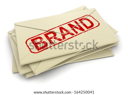 Brand letters  (clipping path included)