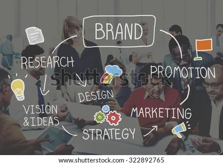 Brand Marketing Advertising Branding Design Trademark Concept - stock photo