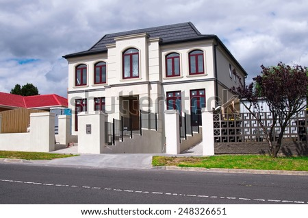 Brand new Australian house  - stock photo