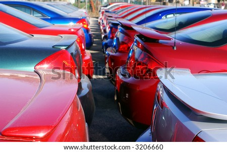 brand new car - stock photo