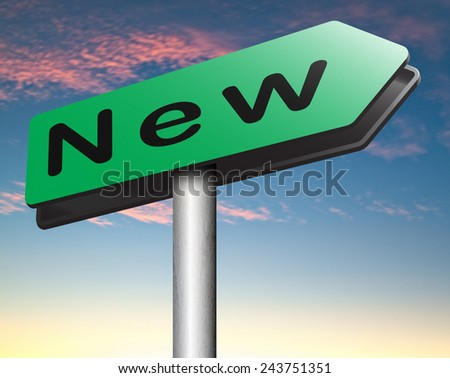 brand new collection and latest releases start again with a new series life trend or career - stock photo