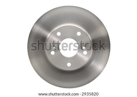 Brand new disc brake rotor - stock photo