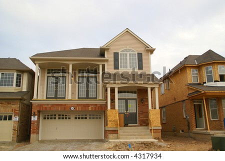 brand new house - stock photo