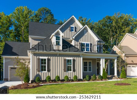 Brand new house is waiting for owner - stock photo