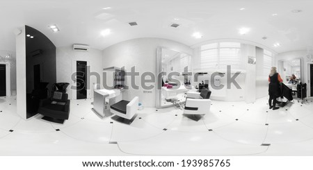 brand new interior of european beauty salon - stock photo