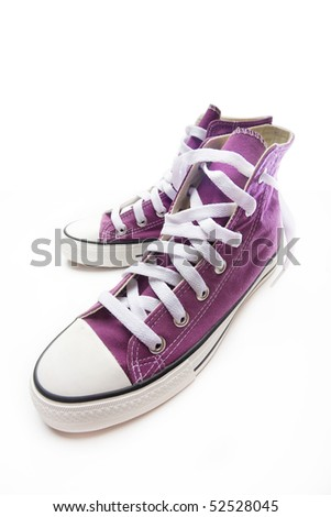brand new purple sneakers