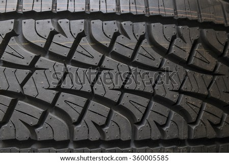 Brand new tires - stock photo