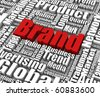 Brand related words. Part of a series of business concepts. - stock photo