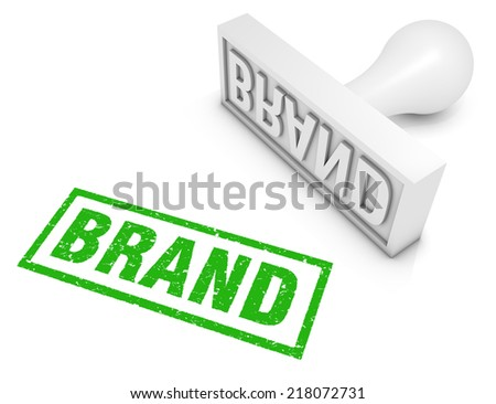 Brand rubber stamp. Part of a series of business concepts. - stock photo