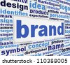 Brand slogan message design. Brand poster concept - stock photo