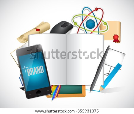 brand tools and sign illustration design graphic - stock photo