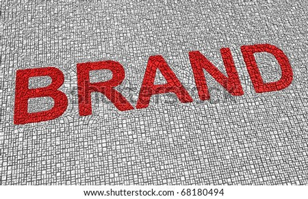 Brand word. Part of a series of business concept. - stock photo