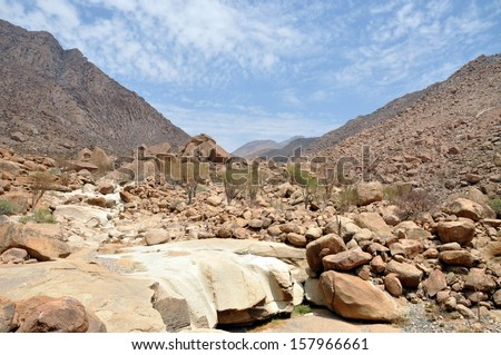 Brandberg mountain, Namibia, southern Africa - stock photo
