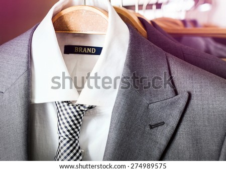 Branded suit - stock photo