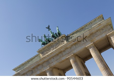 brandenburg gate - stock photo