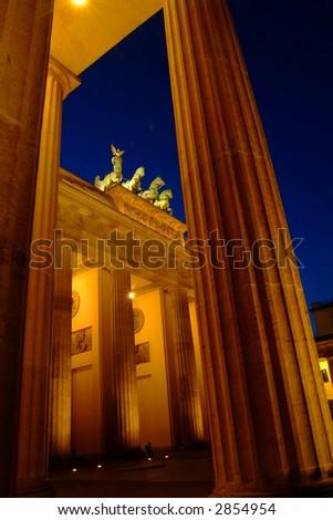 Brandenburg Gate at dawn - stock photo
