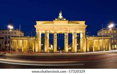 Brandenburg gate berlin - stock photo