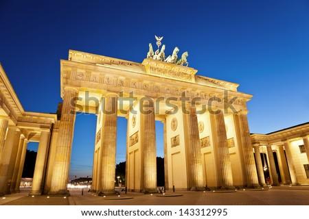 Brandenburg Gate, Berlin, Germany - stock photo