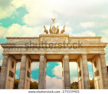 Brandenburg gate Berlin - Germany - stock photo