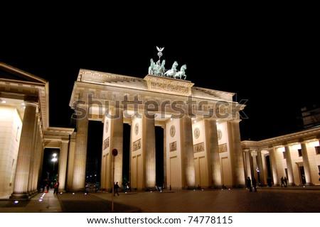 Brandenburg Gate - Berlin, Germany - stock photo