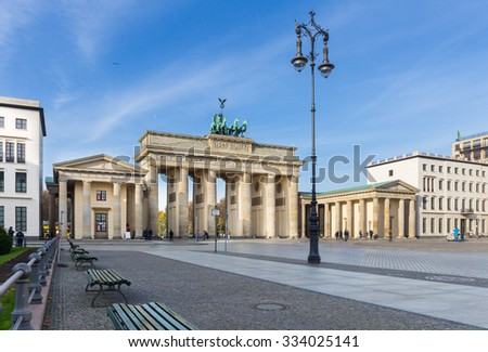 Brandenburg Gate (Brandenburger Tor), Berlin - stock photo