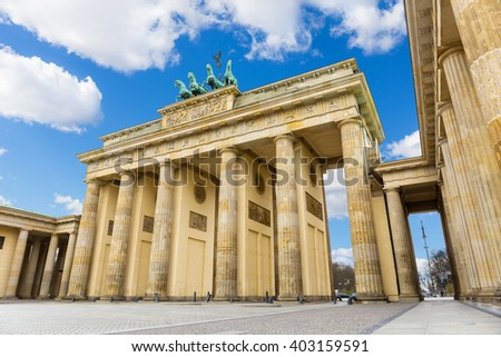 Brandenburg Gate (Brandenburger Tor), Berlin